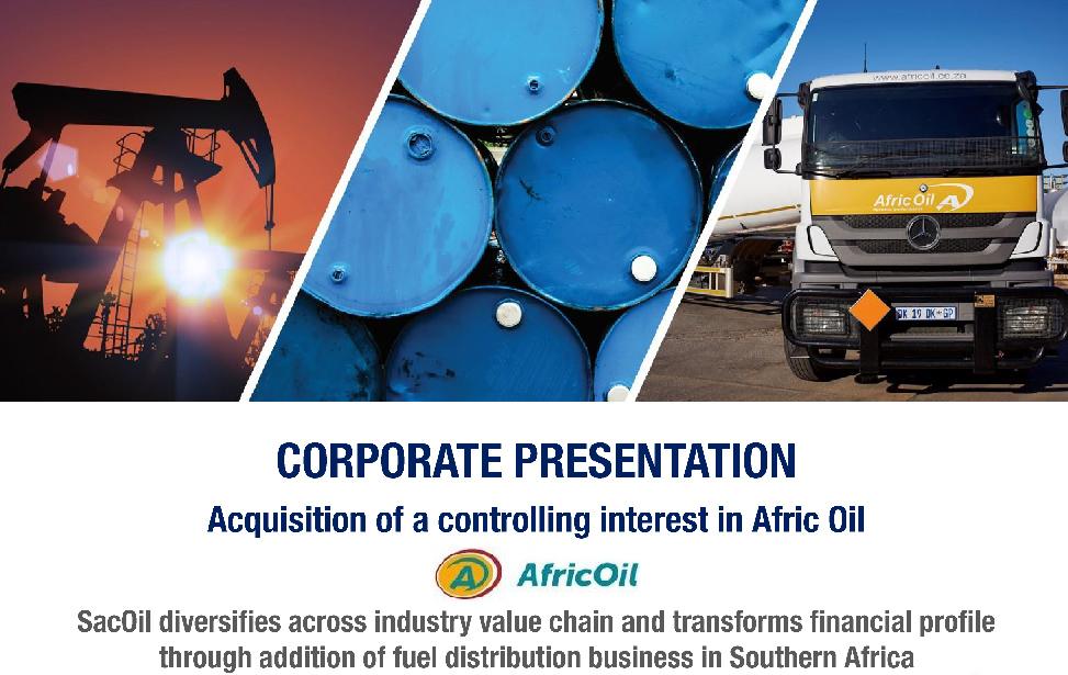 Afric Oil corporate presentation